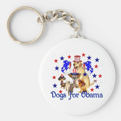 DOGS FOR OBAMA KEY CHAINS