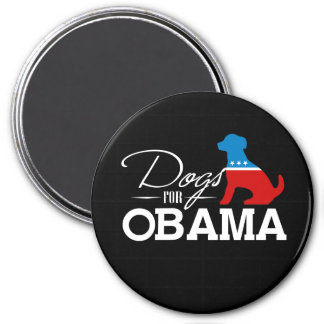 Dogs for Obama - 3 Inch Round Magnet