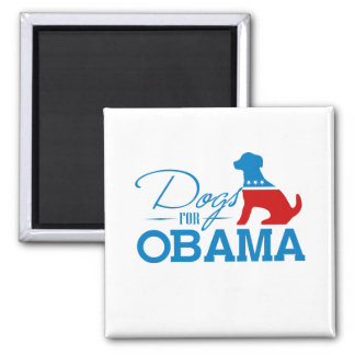 Dogs for Obama - 2 Inch Square Magnet