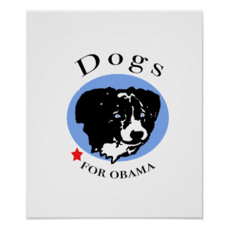 Dogs for Obama poster