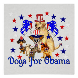DOGS FOR OBAMA PRINT