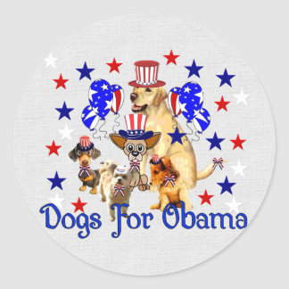 DOGS FOR OBAMA STICKERS