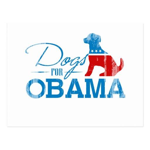 Dogs for Obama - Vintage.png Postcards