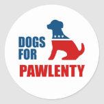 DOGS FOR PAWLENTY STICKERS