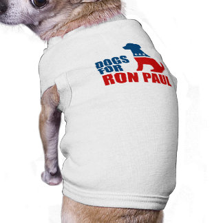 DOGS FOR RON PAUL DOG TSHIRT