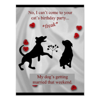 Dogs Getting Married Funny Poster