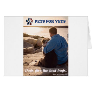 Dogs give the best hugs. card