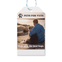 Dogs give the best hugs. gift tags