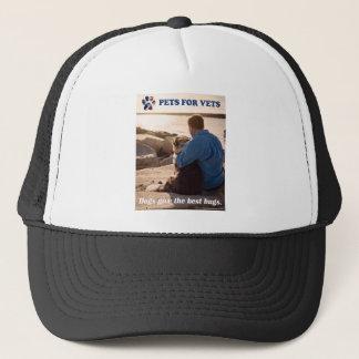 Dogs give the best hugs. trucker hat