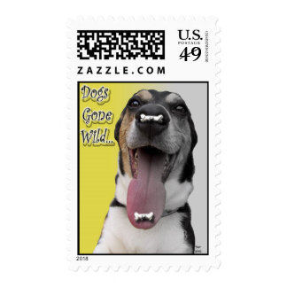 Dogs Gone Wild Postage Stamp