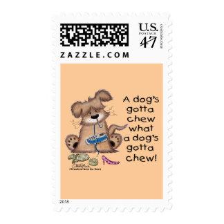 Dogs Gotta Chew Postage
