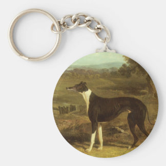 Dogs, Greyhound and Spaniel, Doctor Fop by Herring Keychain
