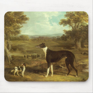 Dogs, Greyhound and Spaniel, Doctor Fop by Herring Mouse Pad