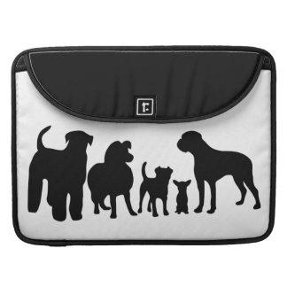 Dogs group black silhouette macbook air sleeve sleeves for MacBook pro
