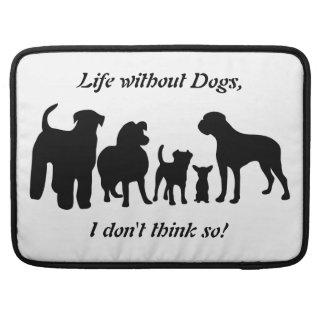Dogs group black silhouette macbook air sleeve sleeve for MacBook pro