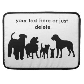 Dogs group silhouette custom macbook air sleeve sleeve for MacBooks
