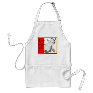 Dogs have owners Cats have staff Adult Apron