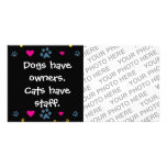 Dogs Have Owners-Cats Have Staff Card