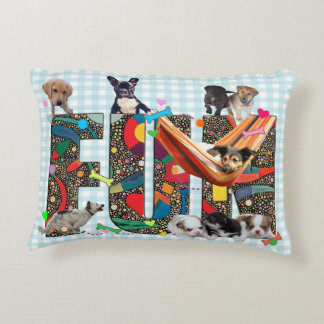 Dogs Having Fun Accent Pillow