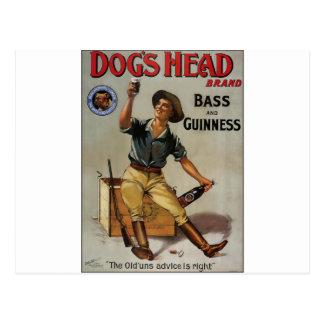 Dog's Head Brand Postcard