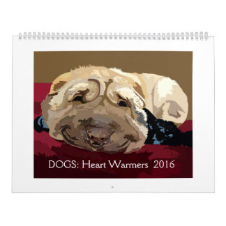 DOGS: Heart Warmers 2016, 2 pg calendar large