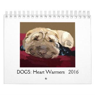 DOGS: Heart Warmers 2016 2 pg calendar small