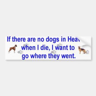 dogs heaven car bumper sticker