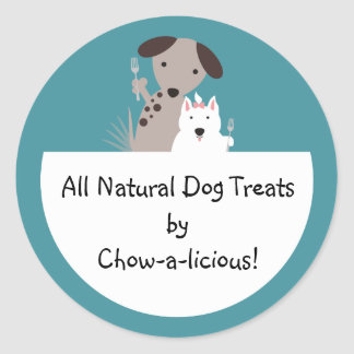 dogs homemade pet food chef package stickers