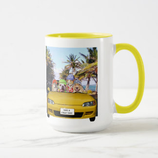 Dogs in a Convertible Mug