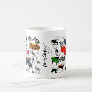 dogs in coats mug