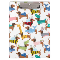 Dogs In Disguise Halloween Costume Dachshunds  Clipboard