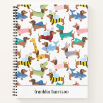 Dogs In Disguise Halloween Costume Dachshunds  Notebook