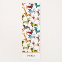 Dogs In Disguise Halloween Costume Dachshunds  Yoga Mat