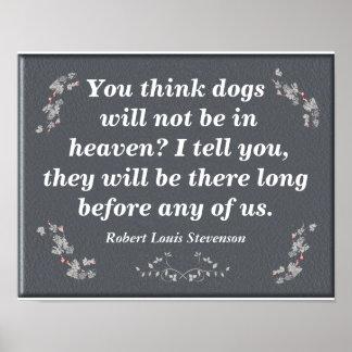 Dogs in heaven - art print