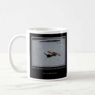 Dogs in Snow Mug with Quote