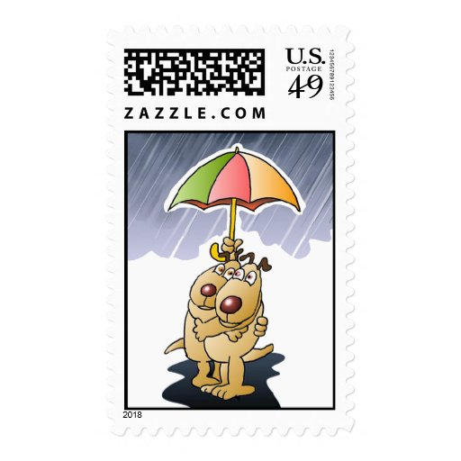 Dogs in the Rain Stamps