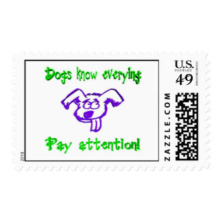 Dogs Know Everything Postage