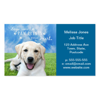 Dogs leave paw prints on your heart Double-Sided standard business cards (Pack of 100)