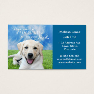 Dogs leave paw prints on your heart business card