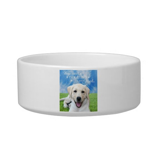 Dogs leave paw prints on your heart cat bowls