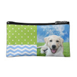 Dogs leave paw prints on your heart cosmetic bags