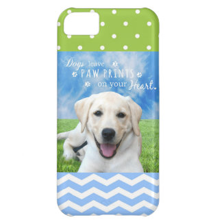 Dogs leave paw prints on your heart cover for iPhone 5C