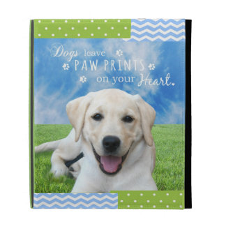 Dogs leave paw prints on your heart iPad folio covers
