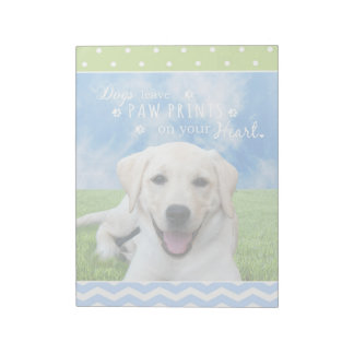 Dogs leave paw prints on your heart memo note pads