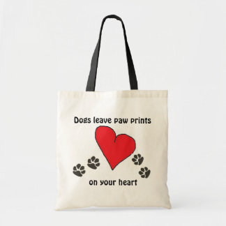 Dogs Leave Paw Prints on Your Heart Tote Bag