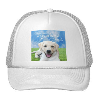 Dogs leave paw prints on your heart trucker hat