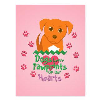 Dogs Leave Pawprints Postcard