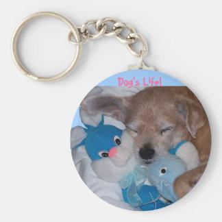 Dog's Life! Basic Round Button Keychain