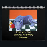 """Dogs Live Here Calendar<br><div class=""""desc"""">12 months of paintings by Whidbey Island artist Shelley Lampman - featuring Australian Cattle Dogs!</div>"""