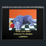 "Dogs Live Here Calendar<br><div class=""desc"">12 months of paintings by Whidbey Island artist Shelley Lampman - featuring Australian Cattle Dogs!</div>"